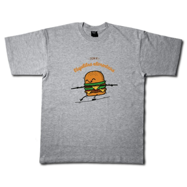 T-shirt léger B&C - E150 BURGER ADDICT
