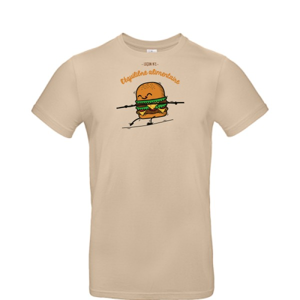 T-shirt B&C - E190 BURGER ADDICT