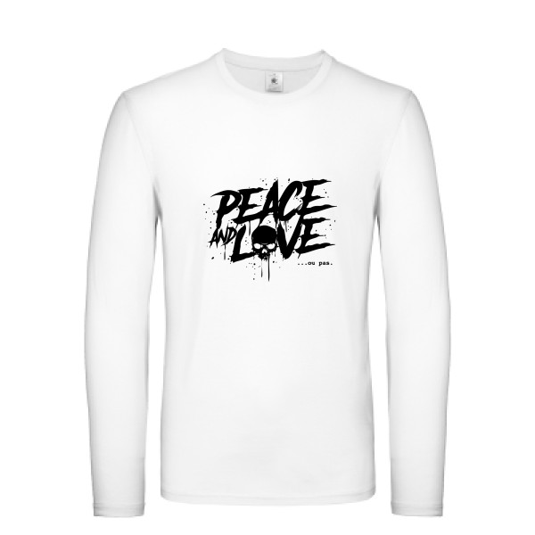 T-shirt manches longues léger - B&C - E150 LSL - Peace or no peace