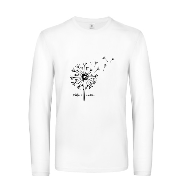 T-shirt manches longues - B&C - E190 LSL - Make a wish
