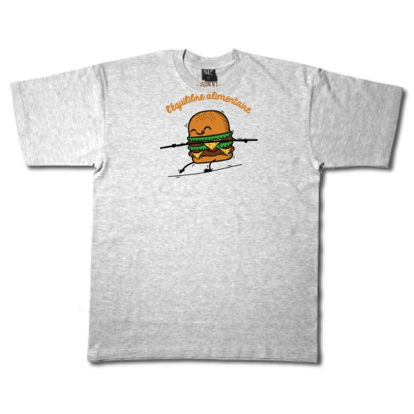 T-shirt Fruit of the loom 205 g/m² BURGER ADDICT