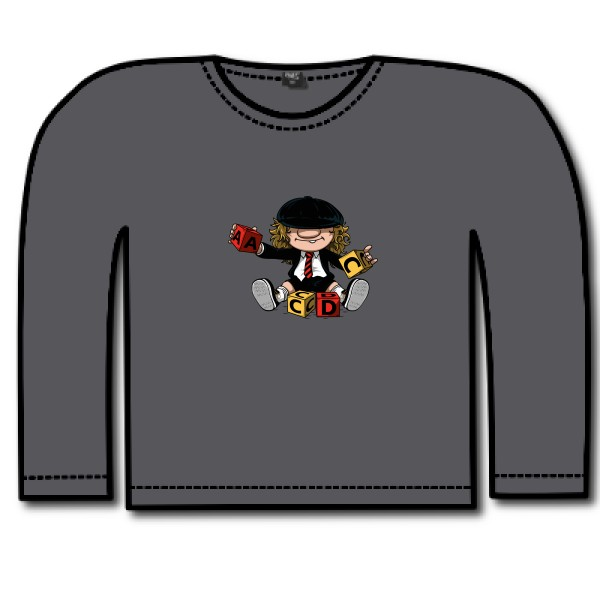 T-shirt enfant manches longues Russell - Boys Long Sleeve HD Tee  ACDC