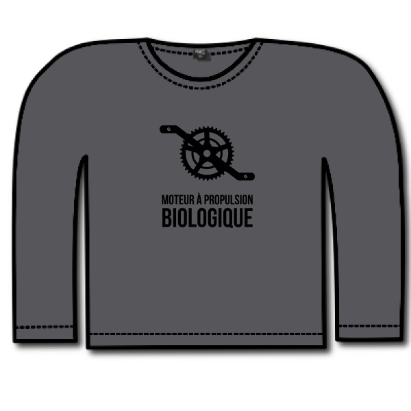 T-shirt enfant manches longues - Russell - Boys Long Sleeve HD Tee  - Cyclisme & écologie