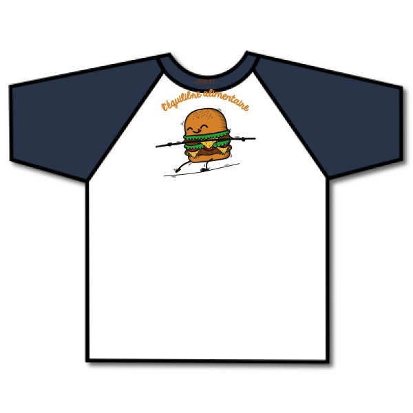 T-shirt baseball Fruit of the Loom - Baseball Tee BURGER ADDICT