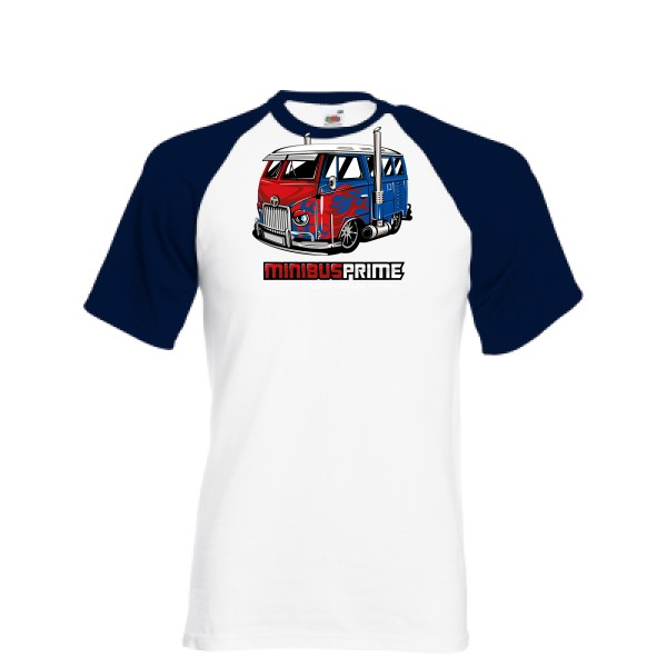 T-shirt baseball Fruit of the Loom - Baseball Tee Minibus Prime