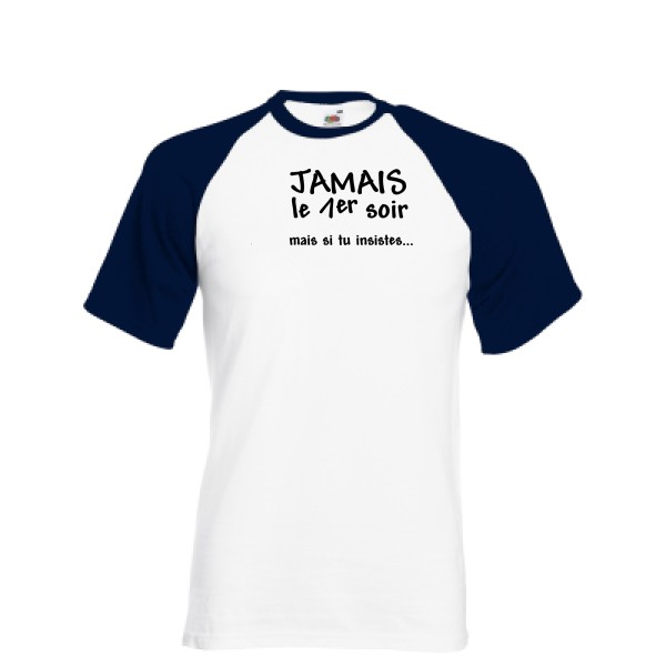 T-shirt baseball Fruit of the Loom - Baseball Tee JAMAIS...