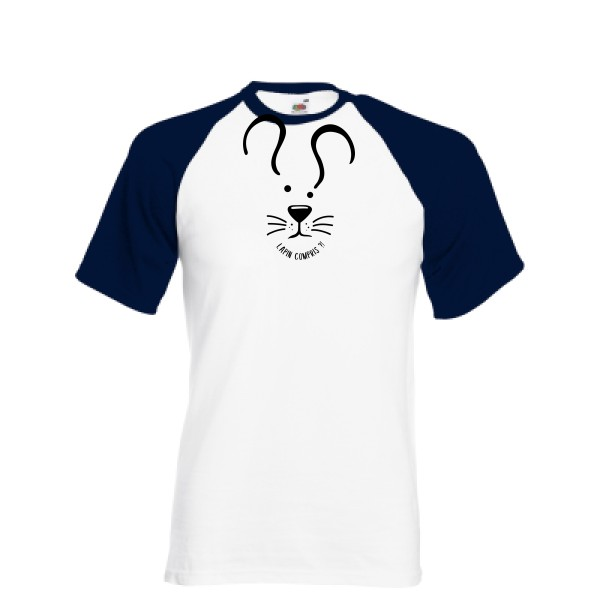 T-shirt baseball - Fruit of the Loom - Baseball Tee - Lapin Compris ?!