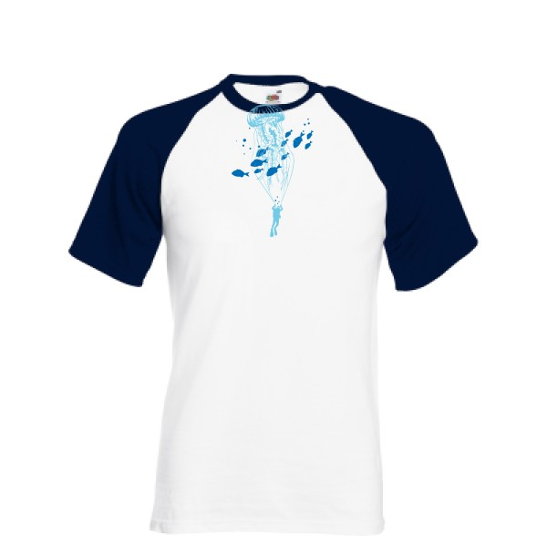 T-shirt baseball - Fruit of the Loom - Baseball Tee - Under the sky