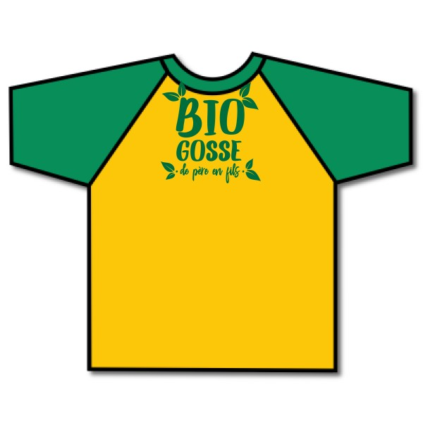 T-shirt baseball Fruit of the Loom - Baseball Tee BIO GOSSE
