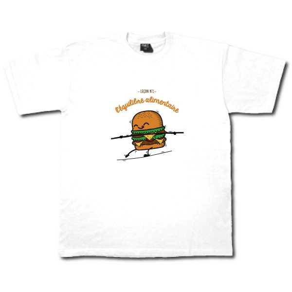 T-shirt bio Stars - Crew Neck Men BURGER ADDICT