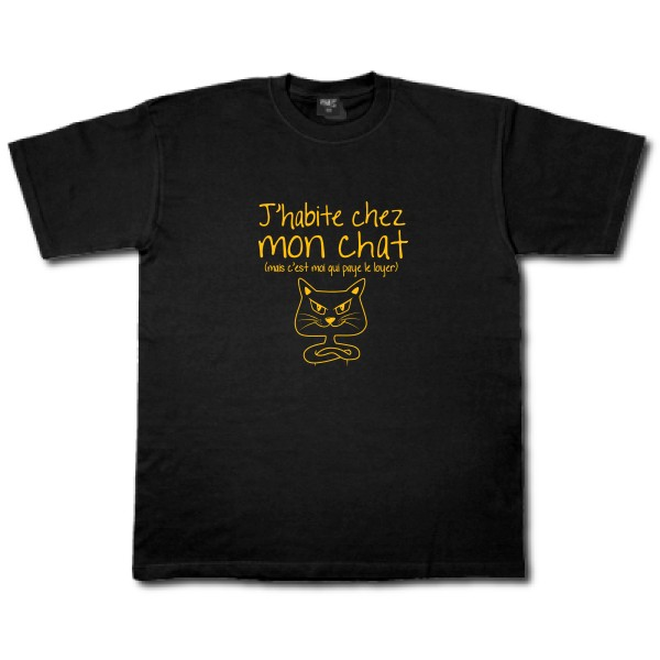 T-shirt B&C - Workwear T-Shirt J'habite chez mon chat