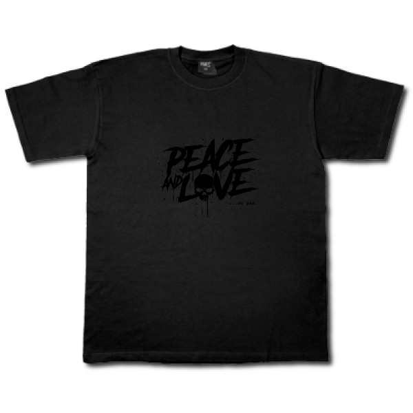 T-shirt workwear B&C - Workwear T-Shirt Peace or no peace