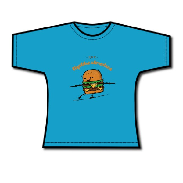 T-shirt femme léger B&C Women-Only Ladies BURGER ADDICT