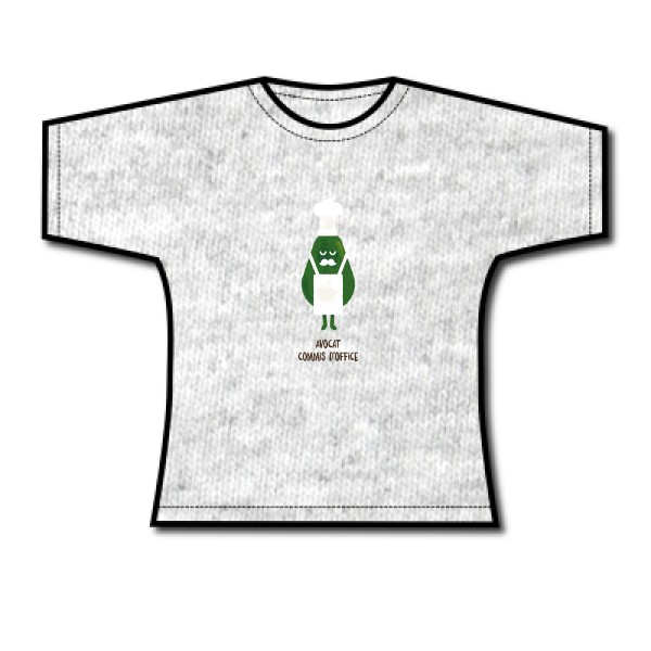 Tee shirt femme avocat commis d 39 office enfants humour fun - Avocat commis d office gratuit ...