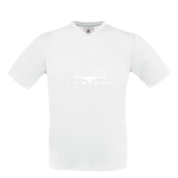 T-shirt Col V B&C - Exact V-Neck Low Bat