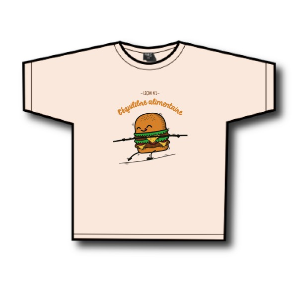 T-shirt enfant léger SG - Kids T-Shirt BURGER ADDICT