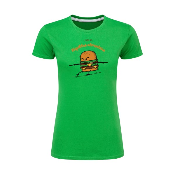 T-shirt femme léger SG - Ladies BURGER ADDICT