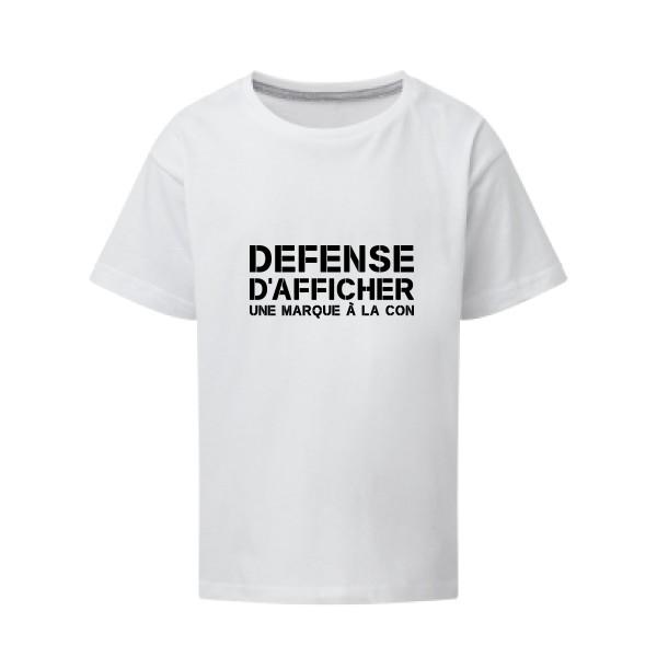 57e28aa6a7e4f Tee shirt enfant Marque à la Con message, humour, texte, enfants ...