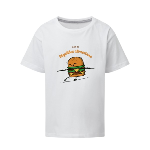 T-shirt enfant SG - Kids BURGER ADDICT