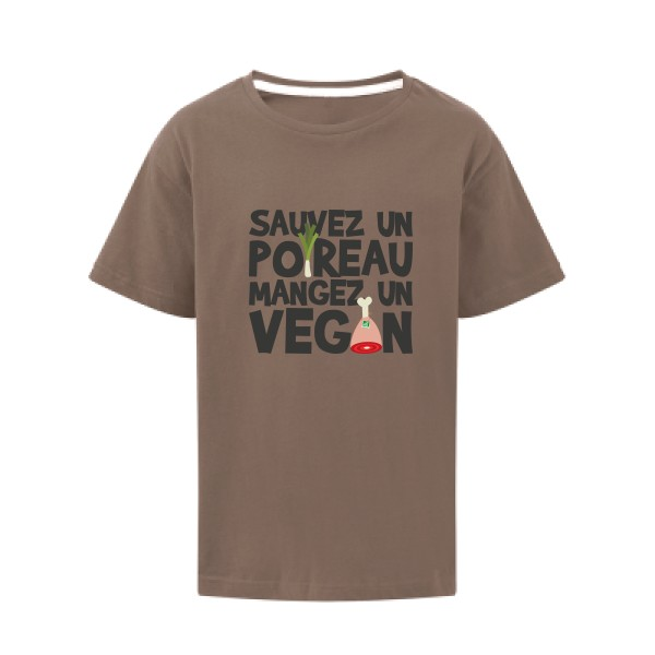 T-shirt enfant SG - Kids vegan/poireau