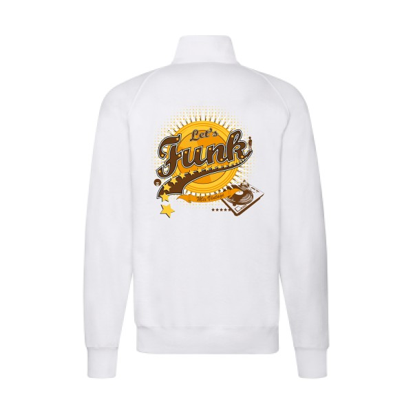 Sweat zippé Fuit of the loom - Lightweight Sweat Jacket Let's funk !
