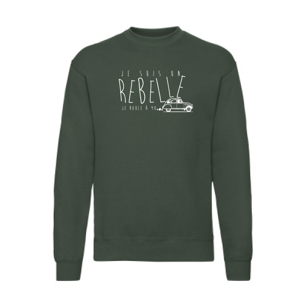 Sweat shirt Fruit of the loom 280 g/m² je suis un rebelle