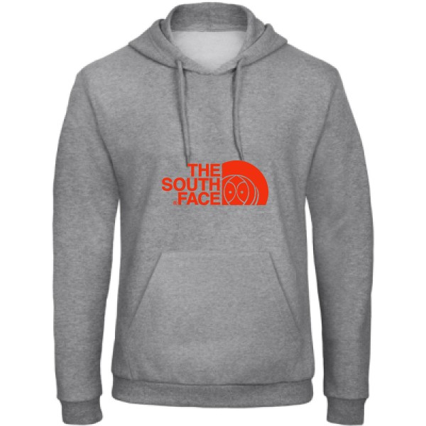 Sweat capuche B&C - Hooded Sweatshirt Unisex  The south face