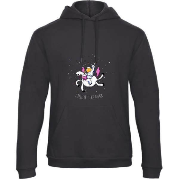 Sweat capuche B&C - Hooded Sweatshirt Unisex  Space Rodéo Licorne
