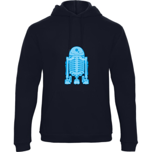 Sweat capuche B&C - Hooded Sweatshirt Unisex  Droid Scan