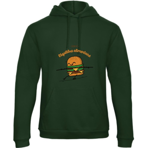 Sweat capuche B&C - Hooded Sweatshirt Unisex  BURGER ADDICT