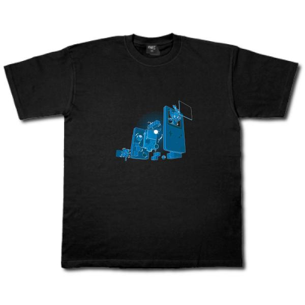 tee shirt homme old school gamer t shirt homme jeux video fun enfa. Black Bedroom Furniture Sets. Home Design Ideas