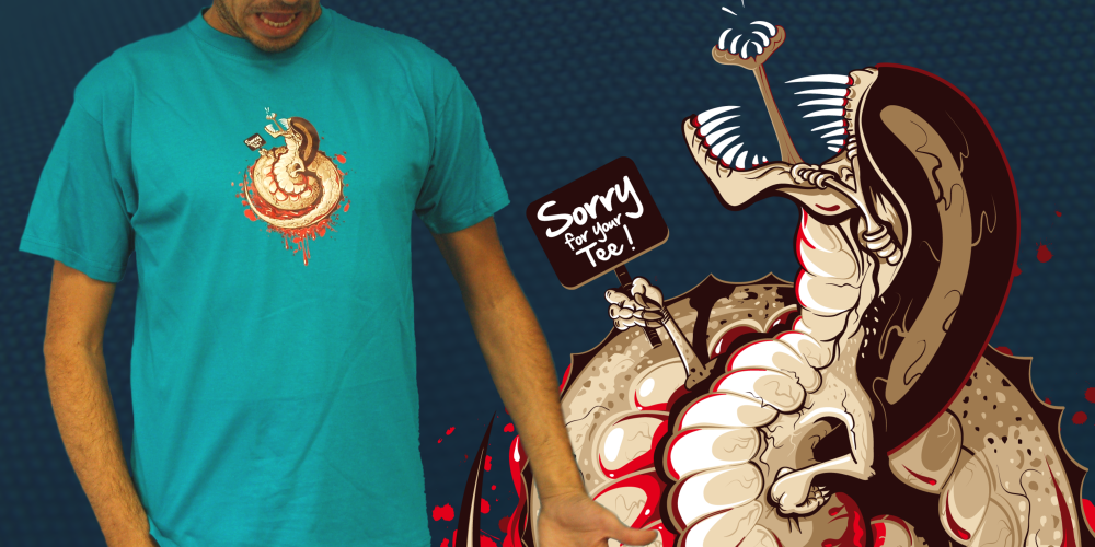 Le tee-shirt Sorry for your tee ! par Jus2Pom