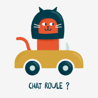 Chat roule