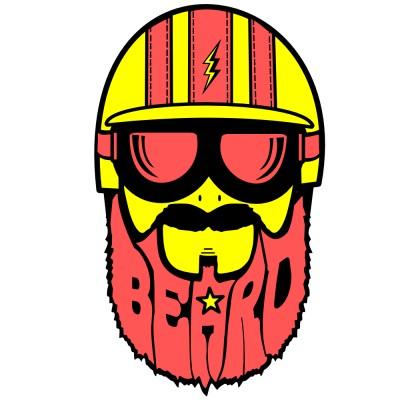 motard barbu