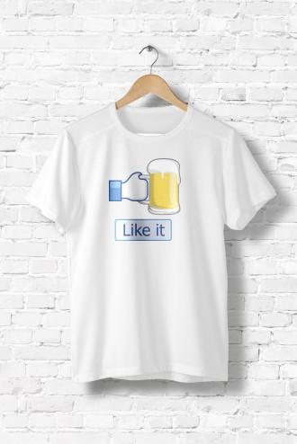 b283197afe3fb Tee shirt homme I like beer alcool, facebook, biere, humour, en promotion