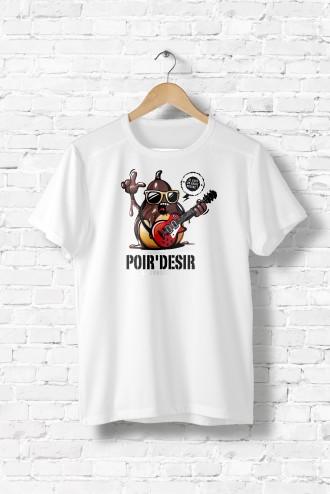 T Shirt homme Poire Desir fun humour musique guitare fruit