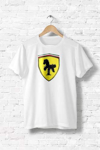 Tee shirt homme Ferrari. T-Shirt enfants voiture detournement parodie fun  humour 63f2bfa2c2c