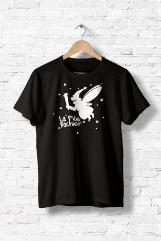 1c6aeda2 Tee shirt homme La Fée Pachier. T-Shirt humour fun flex