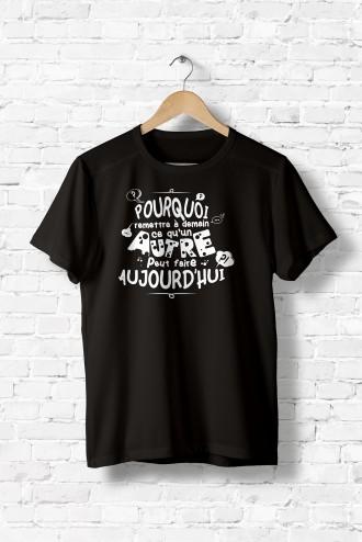 Tshirt homme L art de déléguer. T-Shirt texte phrase humour message flex dd40b0caf666