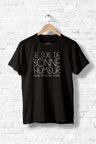69eed47d13592 Tshirt homme BONNE HUMEUR. T-Shirt humour message texte phrase flex