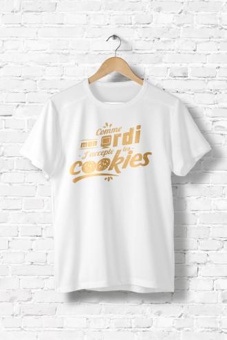 humour Tee les homme cookiesT Shirt J'accepte message shirt geek UVzMpS