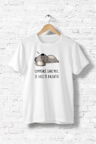 Femme Tee MessageEnfantsAnimauxHumourFun Shirt Dormir trhdsCQ