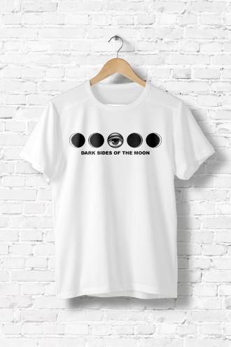 Tee Dark Shirt Homme GraphikLuneMusiqueCercle Side v08OmNnw
