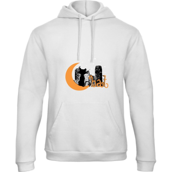 Sweat capuche B&C - Hooded Sweatshirt Unisex  Chat